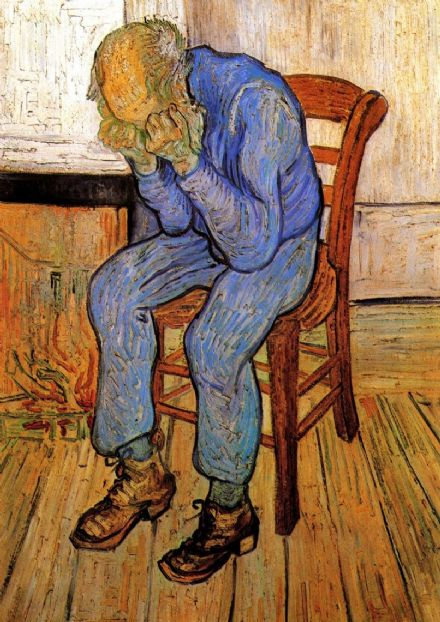 Van Gogh, Vincent: Old Man in Sorrow On the Threshold of Eternity, 1890. Fine Art Print/Poster. Sizes: A4/A3/A2/A1 (001722)